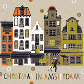 Christmas in Amsterdam — Stok Vektör