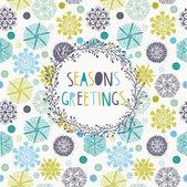Seasons Greetings Card — Stock Vector