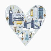 Celebrating Christmas in London — Vetorial Stock