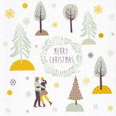 Merry Christmas Print Design — Stock Vector