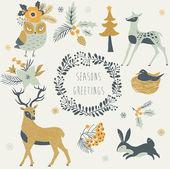 Seasons Greetings — Stock Vector