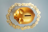 Top view of piggy bank — Stock Photo