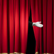 Opening in stage curtain — Stock Photo #12712956