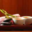 Still life with tea, stones and bamboo — Stock Photo #29744781