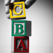 Stock Photo: Alphabet building blocks