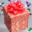 Asian design gift box with ribbon bow — Stock Photo #29761897