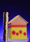 Saving for a house — Stock Photo