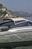:Italy, Baia (Naples), One luxury yacht (boatyard: Cantieri di Baia) — 图库照片