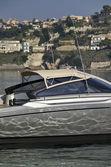 Italy, Baia (Naples), One luxury yacht (boatyard: Cantieri di Baia) — Stock Photo