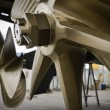 Stock Photo: Italy, Savon(Genova), Bai100 luxury yacht (boatyard: Cantieri di Baia), view of propellers