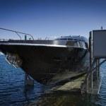 Italy, Baia (Naples), Baia 100 luxury yacht launch (boatyard - Cantieri di Baia) — Stock Photo #13203086