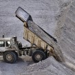 Italy, Maddaloni (Naples), an industrial truck unloading stones in a stone pit — Stock Photo #13203140