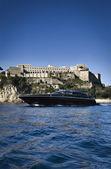 Italy, Baia (Naples), Baia 100 luxury yacht (boatyard: Cantieri di Baia) — Stock Photo