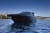Italy, Baia (Naples), Baia 100 luxury yacht (boatyard: Cantieri di Baia) — Stock Photo