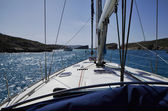 View from the sailing boat — Stock Photo