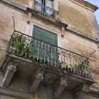 Baroque building, old balcony — Stock Photo