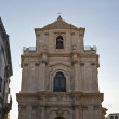 St. Michael Baroque church facade - Stock Photo