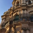 St. John's Baroque church facade (18th century AC) - Stock Photo