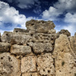 Malta Island, Gozo, the ruins of Ggantija Temples (3600-3000 BC), the megalithic complex was erected in three stages by the community of farmers and herders inhabiti - 