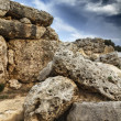 Malta Island, Gozo, the ruins of Ggantija Temples (3600-3000 BC), the megalithic complex was erected in three stages by the community of farmers and herders inhabiti - Stock Photo