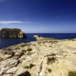 Malta Island, Gozo, Dweira Lagoon, view of the rocky coastline near the Azure Window Rock — Stock Photo