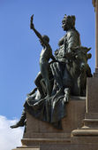Italy, Rome, Gianicolo, bronze statue — Stock Photo