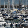 Italy, Sicily, Mediterranean sea, Marina di Ragusa, view of luxury yachts in the marina — Stock Photo