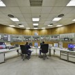 Stock Photo: Italy, Maddaloni (Naples), cement factory, controls room