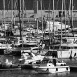Italy, Sicily, Mediterranean sea, Marina di Ragusa, view of luxury yachts in the marina - Stock Photo