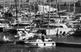 Italia, mar mediterraneo, vista di yacht di lusso nel porto di marina di ragusa, sicilia — Foto Stock
