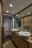Italy, Naples, Abacus 70 luxury yacht, master bathroom — Foto Stock