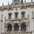 Portugal, Lisbon, the Neo-Manueline facade of the Rossio railway staion (designed between 1886 and 1887 by Portuguese architect Jos Lus Monteiro) — Stock Photo