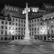 Stock Photo: Portugal, Lisbon, Townhall Square monument by night