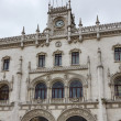 Portugal, Lisbon, the Neo-Manueline facade of the Rossio railway staion (designed between 1886 and 1887 by Portuguese architect Jos Lus Monteiro) - Stock Photo