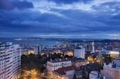 Portugal, Lisbon, view of the city and the Tagus river at sunset — Stock Photo