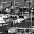 Italy, Sicily, Mediterranean sea, Marina di Ragusa, view of luxury yachts in the marina - Foto de Stock