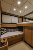 Italy, Naples, Abacus 70 luxury yacht, guests bedroom — 图库照片