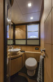 Italy, Naples, Abacus 70 luxury yacht, guests bathroom — Stock Photo