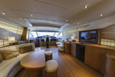 Italy, Alfamarine 78 luxury yacht, dinette — Stock Photo