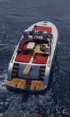 Luxury yacht, aerial view — Foto Stock