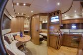 RIZZARDI 63HT luxury yacht, dinette — Stock Photo