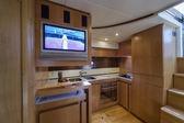 RIZZARDI 63HT luxury yacht, dinette, kitchen area — Foto Stock