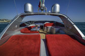 Rizzardi 63 luxury yacht, cockpit — Stock Photo