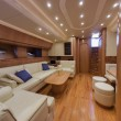 RIZZARDI 73HT luxury yacht, dinette - Zdjcie stockowe