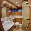 RIZZARDI 73HT luxury yacht, master bathroom — Stock Photo