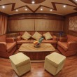 Dinette on luxury yacht RIZZARDI TEKNEMA 65 - Foto de Stock