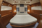 Vips bedroom on luxury yacht RIZZARDI TEKNEMA 65 — 图库照片