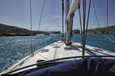 View of Comino's Blue Lagoon from a sailing boat — Stock Photo