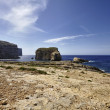 View of the rocky coastline near the Azure Window Rock — Stockfoto