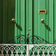Stock Photo: Malta, Gozo Island, Victoricity, green door in private house